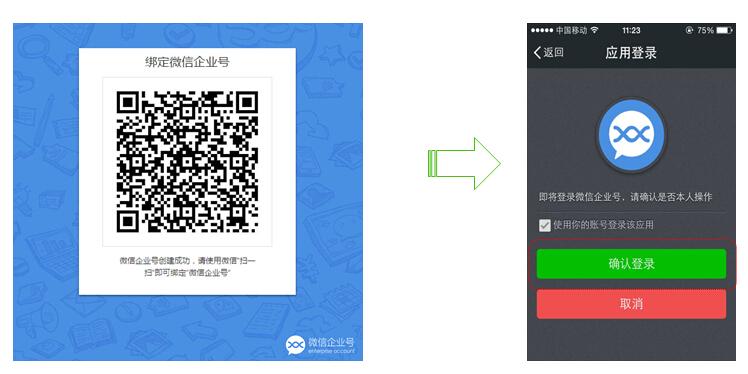 微信企业号-绑定个人微信